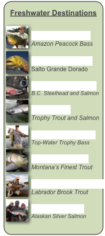Freshwater Destinations